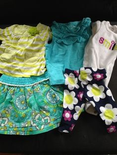 Newborn summer clothes for baby girl in Seattle, WA (sells for $15)