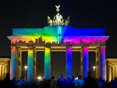 ღღ Berlin, Germany - Festival of Lights - Brandenburg Gate