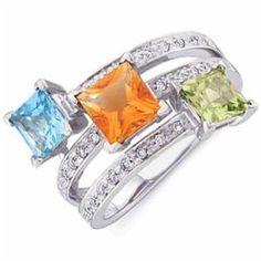 14K White Gold Multicolor Gemstone Fashion Ring (Jewelry)  http://www.1-in-30.com/crt.php?p=B000CD9VTG  B000CD9VTG