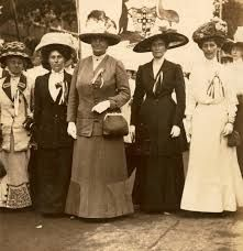 Mrs Margaret Fisher, wife of Australian Prime Minister is part of the Australian & New Zealand contingent of the vote for women protest in London 1911.