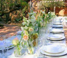 Bush Wedding, Wedding Venues, Table Settings, Table Decorations, Bridal, Home Decor, Wedding Reception Venues, Wedding Places, Decoration Home