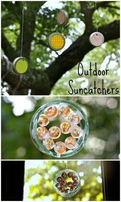 Homemade Suncatchers, using items you have at home
