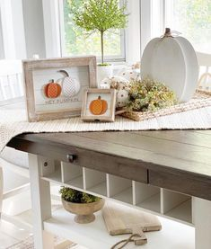 """Krumpets Home Decor on Instagram: """"Hey pumpkin! Ready for Fall? Lori @loris.place added several Fall touches to her kitchen. This 19x9 Mango Wood board is the deal of the…"""" Fall Is Coming, Wood Cutting Boards, Autumn Home, Neutral Colors, Wood Furniture, Entryway Tables, Mango, Seasons, Kitchen"""