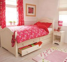 For rooms short on storage try a cabin bed, or under bed storage