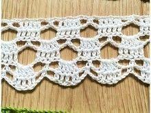 Crocheted border │ lace border │ crochet pattern with crochet pattern - trabalhos manuais - Crochet Boarders, Crochet Edging Patterns, Crochet Lace Edging, Crochet Chart, Crochet Trim, Crochet Doilies, Crochet Baby, Crocheted Lace, Kids Crochet