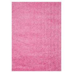 Handmade shag rug in pink.      Product: RugConstruction Material: 100% PolyesterColor: Pink