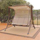 Lakeland Mills White Cedar Log Porch Swing & Stand Set - Porch Swing Frame Sets at Hayneedle