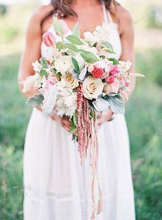 Sweet Blush Bouquet | Emily Jane Photography | Summer Berry Boho Wedding Shoot