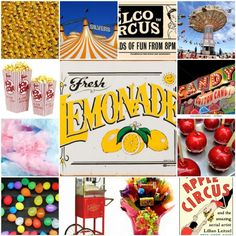 carnival picture collage. Love the retro vibe!