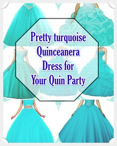 Quinceaneras aren't only historically significant, they provide young girls a chance to celebrate their heritage via fashion, beauty, fancy rituals. Turquoise Quinceanera Dresses, Turquoise Dress, True Colors, Looking For Women, Dress For You, Young Women, Beautiful Day, Dress Patterns, Fashion Beauty