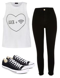 """""""Untitled #471"""" by koolex ❤ liked on Polyvore featuring River Island, Ally Fashion and Converse"""