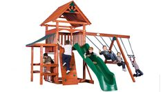 Glacier: Like the mountains at Glacier National Park in Montana, this playset is tall and inviting! Compare the Glacier to similarly-priced playsets at your local home improvement store, and you'll find stronger construction and more play value in this popular Expedition Playset!