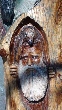 Hope British Columbia: Bearly Escapes Carving by Karen Morton's Pics, via Flickr. www.HopeBC.ca Yesterday And Today, Woodcarving, Make Art, Wood Sculpture, Canes, Chainsaw, British Columbia, Wood Art, Woods