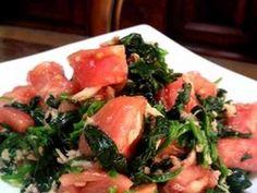 ほうれん草とトマトのツナドレッシング by お茶丸