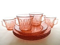Pink Swirl Teacups French Country Home by ShoppeAroundTheWorld, $25.00