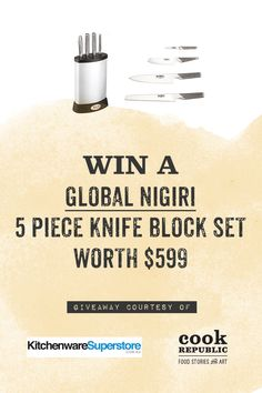 Win A Global Nigiri 5 Piece Knife Block Set Worth $599
