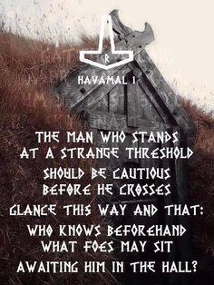 Havamal... the wisdom of Odin..