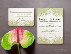 Aragorn & Arwen | Customizable Digital Download Wedding Invite and RSVP