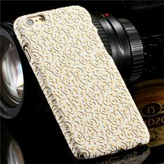 New iPhone 6 Case - WHITE Brand new iPhone 6/6s Phone case.   It is a very delicate design that will turn heads in public. I promise you will love the feel and the look of this case as soon as you see it.   The background is white color with gold lining that is slightly reflective. Accessories Phone Cases