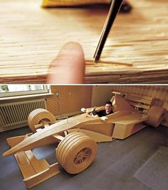 This #F1 #car made of 956,000 matchsticks will burn more than rubber! @Sideways (Driving Club) #HK