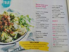 Potato en sweetcorn salad Salad Cream, Baby Potatoes, My Recipes, Potato Salad, Onion, Mustard, Garlic, Stuffed Peppers