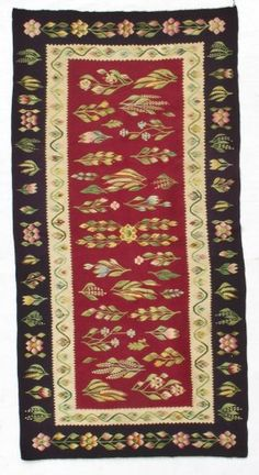 "$325 Bessarabian Kilim - Romania, circa 1900, excellent condition. Dimensions: 2'6"" x 5'8"" (76cm x 173cm)    Condition report  Used"