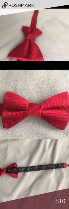 Red Tommy Hilfiger bow tie❗️ Red bow tie perfect condition worn once to prom! Tommy Hilfiger Accessories Ties