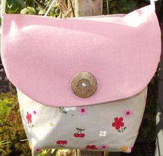 Handmade Pink Reversible messenger bag by TheCraftyFoxBoutique, £30.00