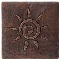 Hammered Copper Tile