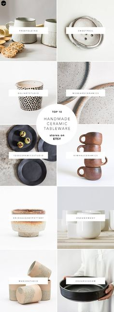 You probably know by now that Etsy is a great source of handmade ceramics yet it is a real pain to source down the pretty ones through the (literally) thousands of its listings. Problem solved :) I created a list of 10 favorite stores with really cool ceramic products, from mugs and tumblers to plates and teapots, and Im sharing it in todays blog post.