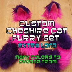Extra Long ChESHIRE CaT CoSTUME - Halloween Costume - CuStom CoLor Cheshire Cat Ears and Cheshire Cat Tail.