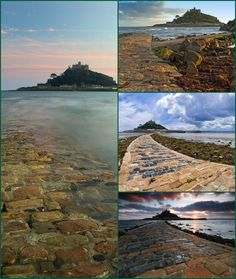 More images of The Causeway at St Michaels Mount, Marazion Cornwall.