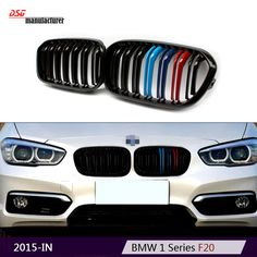 f21 f20 lci replacement ABS kidney M tri color racing grill car styling for bmw 1 series with full clips 116d 118i 120d M135i