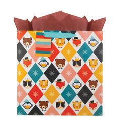 Animal Faces gift bag: Petit Collage for The Gift Wrap Company