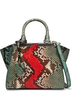 FENDI 3Jours small python and leather tote$4,600