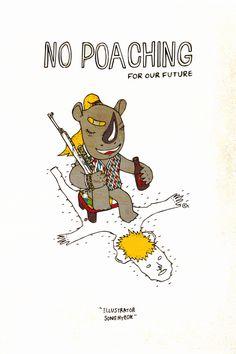 no poaching 2014 / pen on paper + digital art  -  http://www.facebook.com/illuxtrator