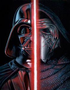 Vader/Kylo Ren /// via Gallery 1988's 'Star Wars: The Art Awakens' Show