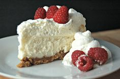 #Vanilla Bean #Cheesecake with White #Chocolate Mousse -- Really luscious cake, will add more sugar into the crust next time I make it as it wasn't quite sweet enough.