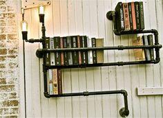 librero con más tuberías. #creativity #Ecodesign #design #diseño #reciclaje #books #moonbal @moonbal @saul_chassin #art