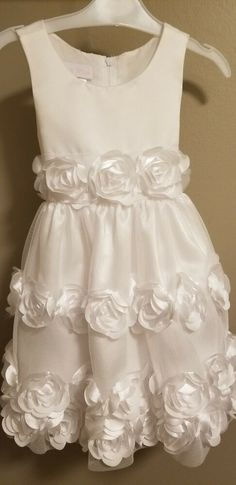 93b0e9e92 Bonnie Baby Toddler Girl White Dress 2T New Without Tags #fashion #clothing  #shoes