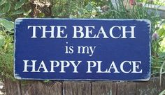 tropical sign beach sign The Beach is my Happy by TheCustomBarn, $13.99