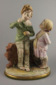 Capodimonte Bruno Merli figurine Bubble Gum