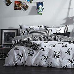 MZPRIDE Black and White Duvet Cover Set 100% Cotton Black...