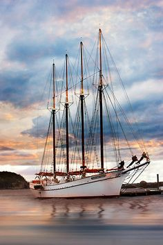 Margaret Todd Schooner at Sunrise (Bar Harbor, Maine)  By: Betty Wiley