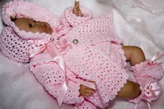 CC41-Sweet Cotton Candy Sweater Layette for Baby Pattern