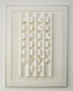 paper folded popup alphabet
