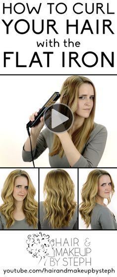 Video tutorial for how to curl your hair with the flat iron.