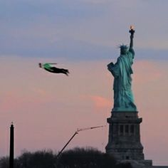 Three human shaped remote controlled planes + New York city. The video that goes with this is very cool!