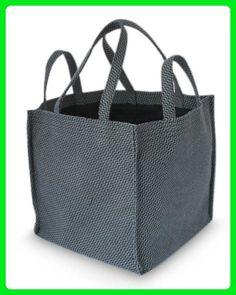 NOVICA Grey Cotton Shopping Tote Bag, 'Square Gray' - Totes (*Amazon Partner-Link)