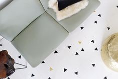 Painted patterned floors. via smitten studio.